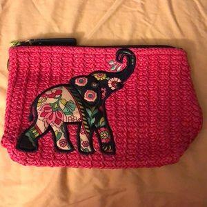 🆕Vera Bradley Elephant Straw Pouch